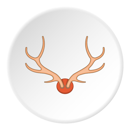 artoon: Antlers icon. artoon illustration of antlers vector icon for web Illustration