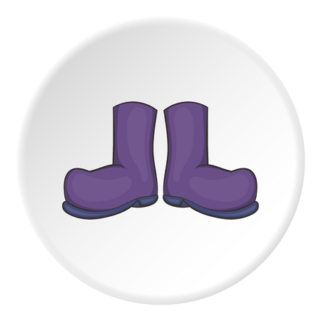 crop circles: Rubber boots icon. artoon illustration of rubber boots vector icon for web