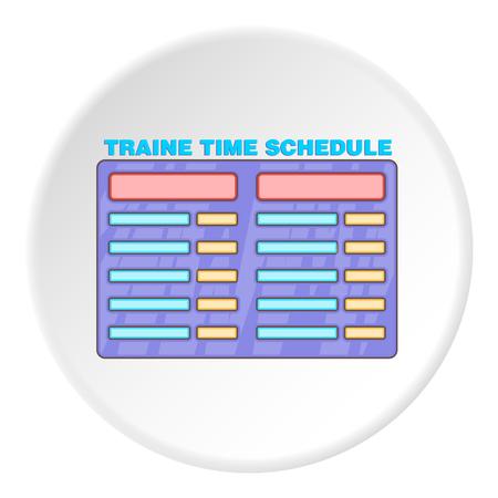 train table: Train schedule icon. artoon illustration of train schedule vector icon for web