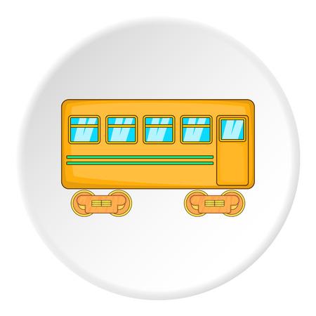 artoon: Passenger wagon icon. artoon illustration of passenger wagon vector icon for web