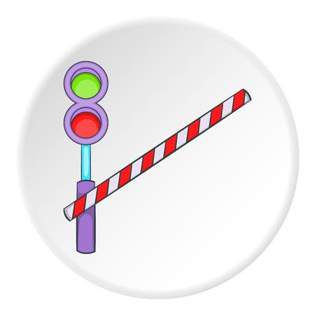 artoon: Railroad crossing icon. artoon illustration of railroad crossing vector icon for web