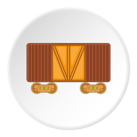 boxcar: Railway cargo container icon. artoon illustration of railway cargo container vector icon for web