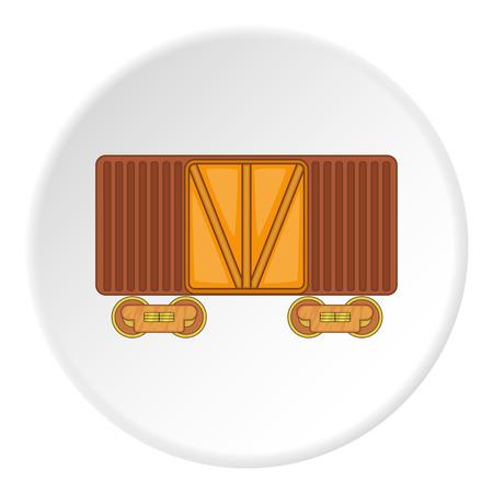 boxcar: Railway cargo container icon. artoon illustration of railway cargo container vector icon for web