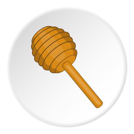 dipper: Honey dipper icon. artoon illustration of oney dipper vector icon for web