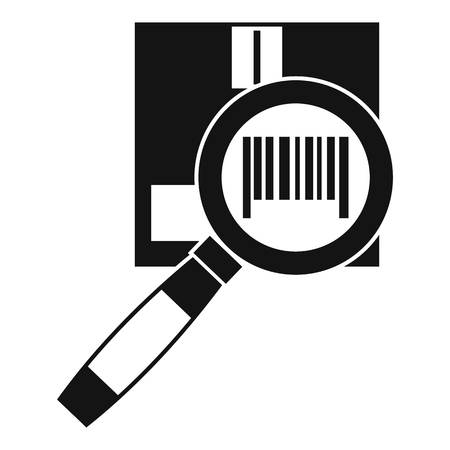 optical disk: Magnifier and diskette icon. Simple illustration of magnifier and diskette vector icon for web
