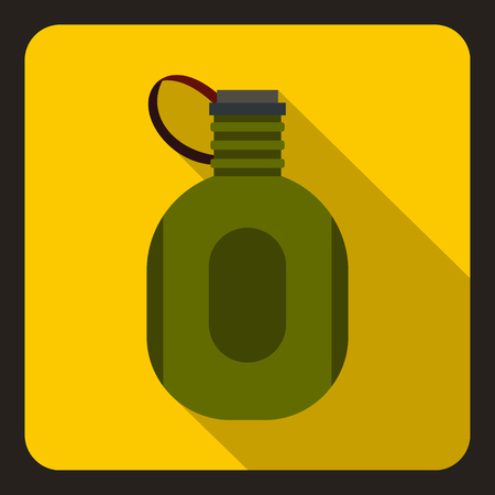 twist cap: Watter bottle icon. Flat illustration of water bottle vector icon for web