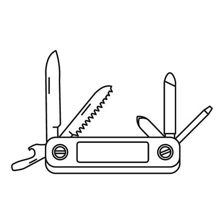 temperino: icona Jackknife. illustrazione Schema di icona coltello a serramanico vettoriale per il web