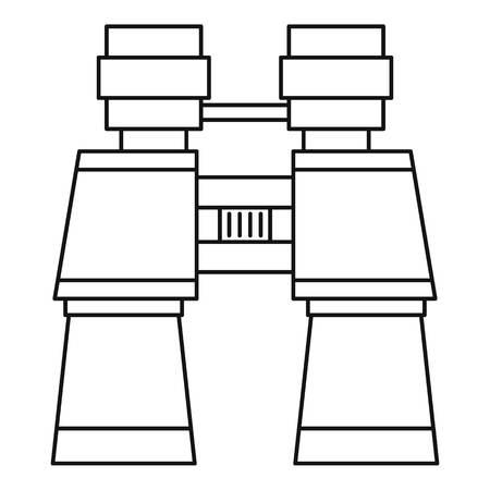 glasse: Binoculars icon. Outline illustration of binoculars vector icon for web Illustration