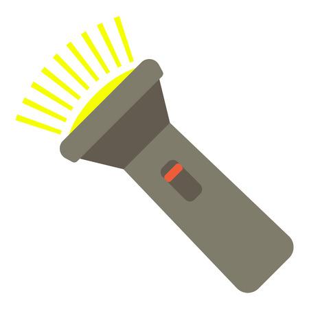 Icona torcia. Illustrazione piana dell'icona di vettore della torcia elettrica per il web.