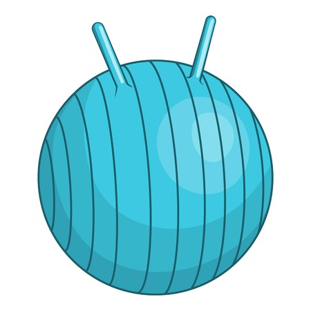 fitball: Children fitball icon. Cartoon illustration of children fitball vector icon for web Illustration