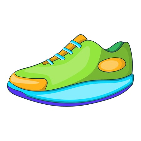 Athletic shoe icon. Cartoon illustration of athletic shoe vector icon for web