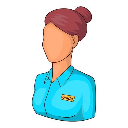 Museum guide icon. Cartoon illustration of museum guide vector icon for web Illustration
