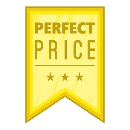 pennant: Perfect price pennant icon. Cartoon illustration of perfect price pennant vector icon for web