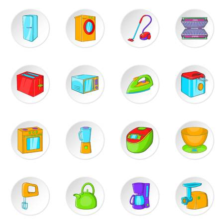 household appliance: Household appliance icons set. Cartoon illustration of 16 Household appliance vector icons for web