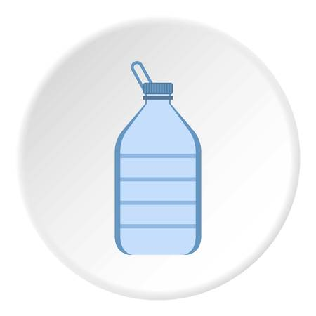 Bottle of water icon. Flat illustration of water bottle vector icon for web design Illustration