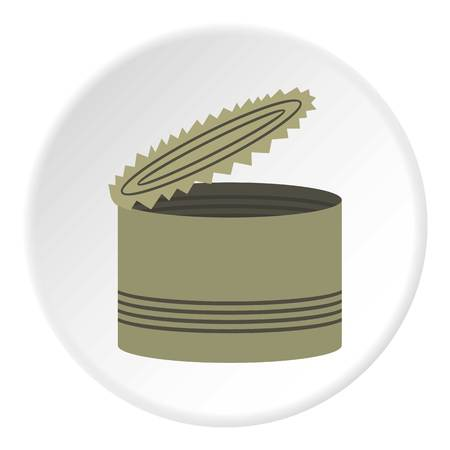 tincan: Opened can icon. Flat illustration of can vector icon for web design Illustration