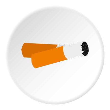 trash danger: Cigarette butt icon. Flat illustration of butt vector icon for web design