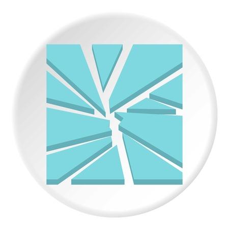 Broken glass icon. Flat illustration of broken glass vector icon for web design