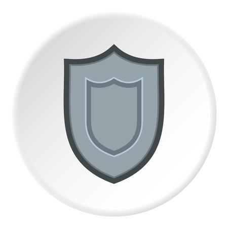 excalibur: Combat shield icon. Flat illustration of shield vector icon for web design