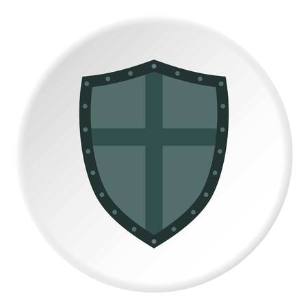 best security: Shield with cross icon. Flat illustration of shield vector icon for web design