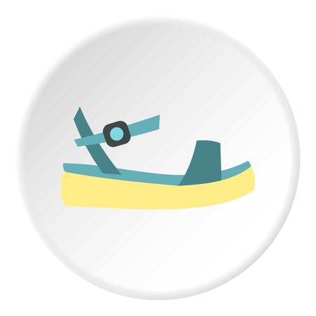 fashionably: Woman sandal icon. Flat illustration of shoe vector icon for web design