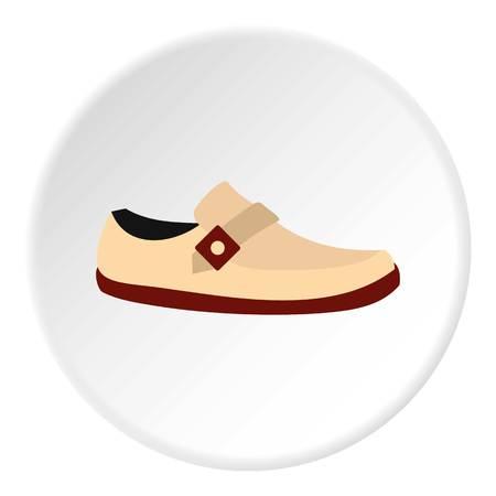 White shoe icon. Flat illustration of shoe vector icon for web design Illustration