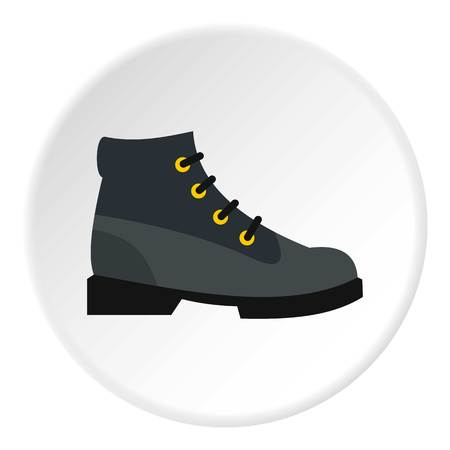 hiking boot: Hiking boot icon. Flat illustration of shoe vector icon for web design