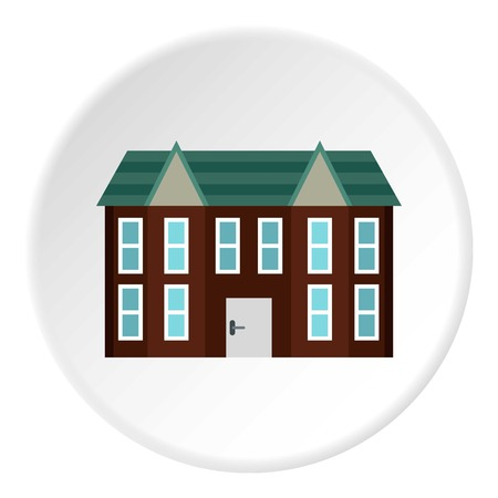 two storey house: Large two storey house icon. Flat illustration of large two storey house vector icon for web Illustration