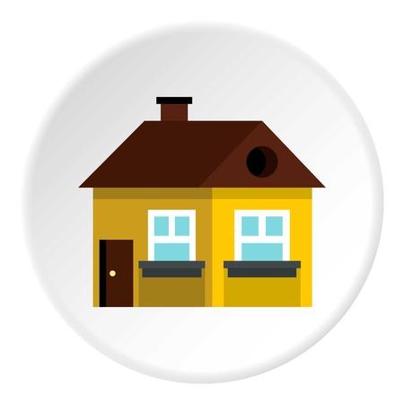 Large single storey house icon. Flat illustration of large single storey house vector icon for web Illustration