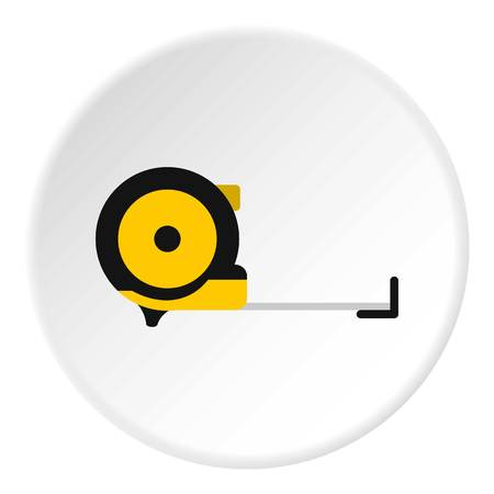 Construction roulette icon. Flat illustration of construction roulette vector icon for web Illustration