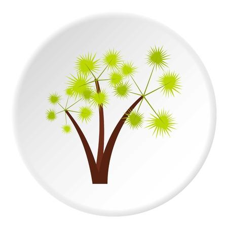 spiky: Three spiky palm trees icon. Flat illustration of three spiky palm trees vector icon for web