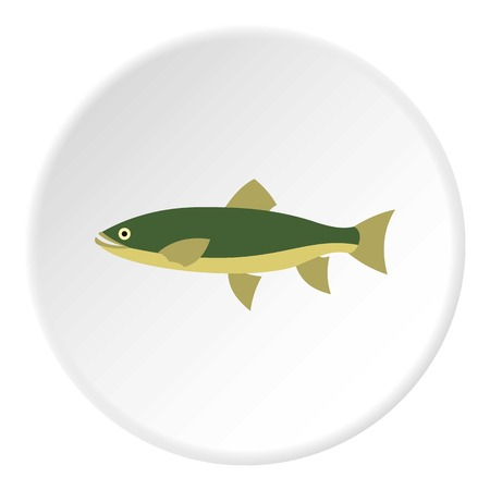 fresh water smelt: Smelt icon. Flat illustration of smelt vector icon for web Illustration