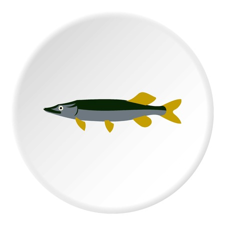 pike: Pike icon. Flat illustration of pike vector icon for web Illustration