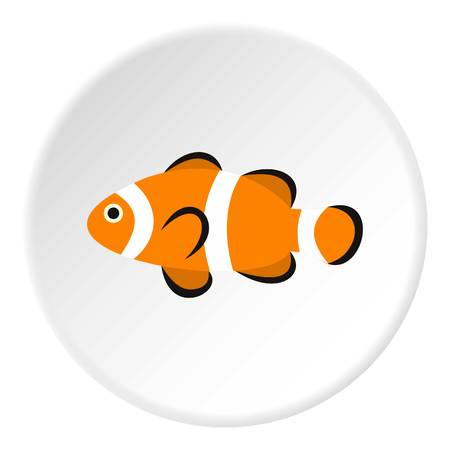 clown tang: Clown fish icon. Flat illustration of clown fish vector icon for web