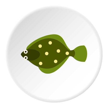 flounder: Flounder icon. Flat illustration of flounder vector icon for web