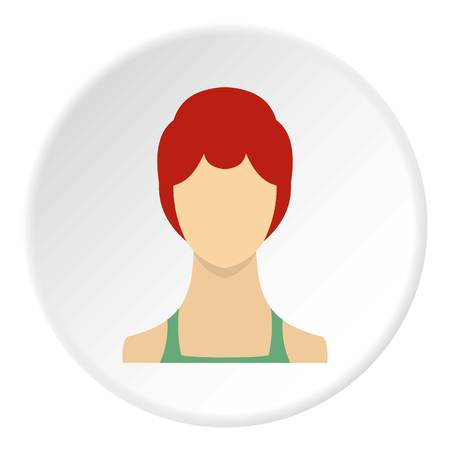 Female avatar icon. Flat illustration of female avatar vector icon for web
