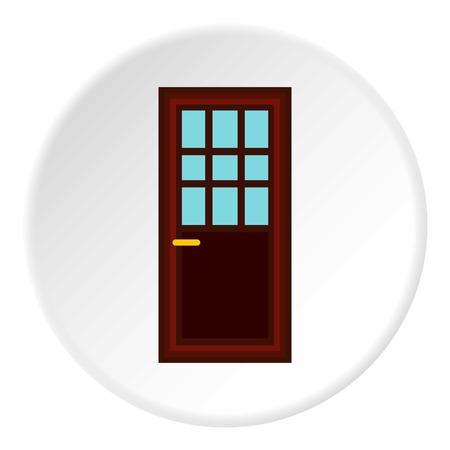 room door: Living room door icon. Flat illustration of living room door vector icon for web