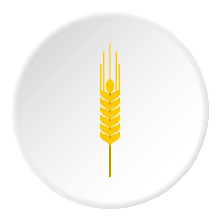Spikelet of wheat icon. Flat illustration of spikelet of wheat vector icon for web Illustration