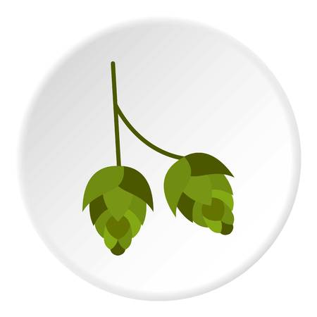 hops: Hops icon. Flat illustration of hops vector icon for web