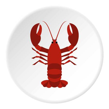 expensive food: Lobster icon. Flat illustration of lobster vector icon for web