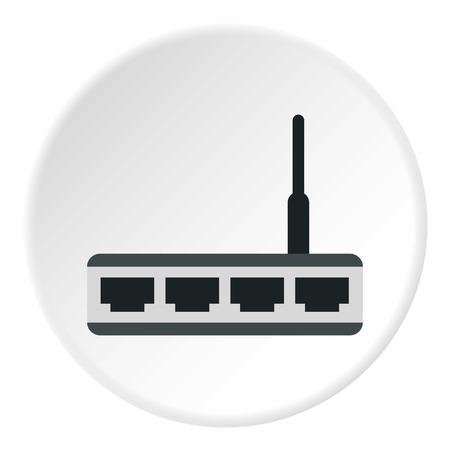 adsl: Modem icon. Flat illustration of modem vector icon for web