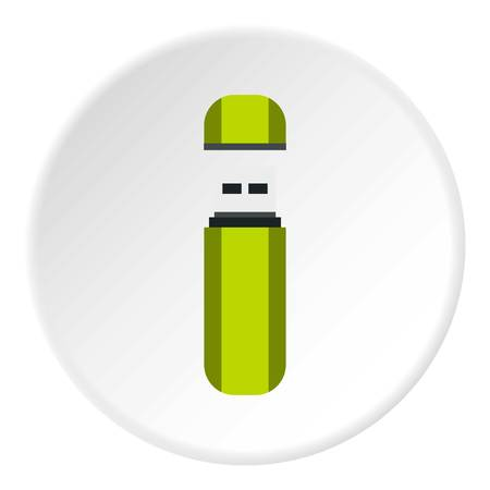 USB flash drive icon. Flat illustration of USB flash drive vector icon for web