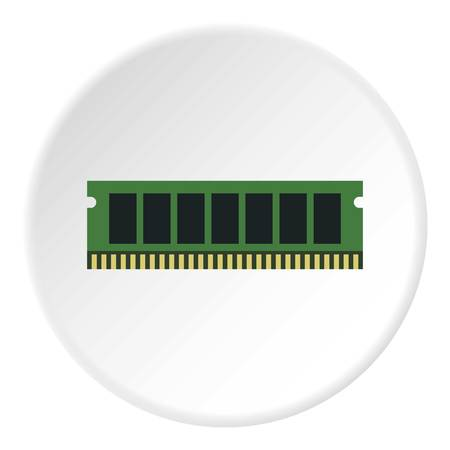 ddr: RAM icon. Flat illustration of RAM vector icon for web