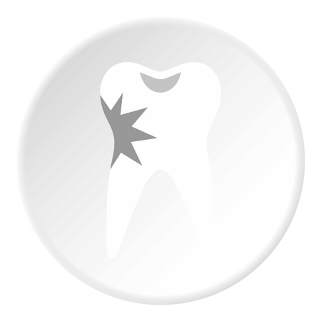 carious: Carious tooth icon. Flat illustration of carious tooth vector icon for web Illustration
