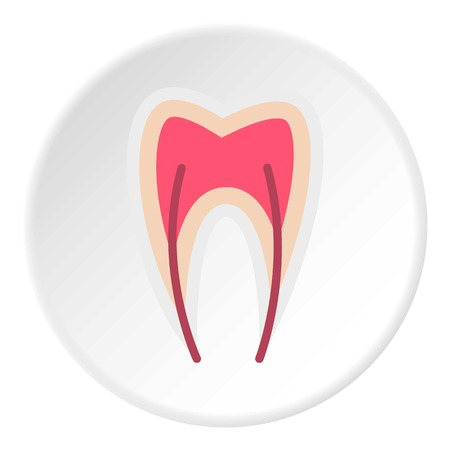 nerve: Tooth nerve icon. Flat illustration of tooth nerve vector icon for web