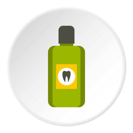 mouthwash: Mouthwash icon. Flat illustration of mouthwash vector icon for web