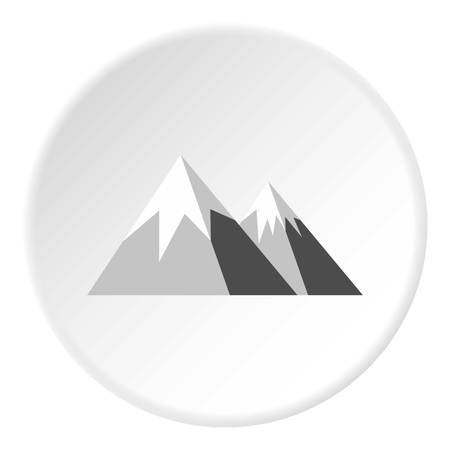 snowy hill: Snowy mountains icon. Flat illustration of snowy mountains vector icon for web