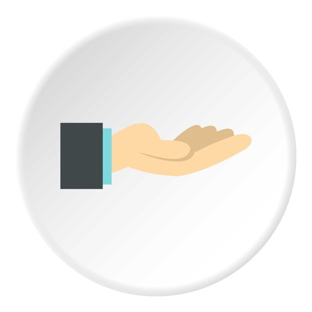control of body movement: Gesture of charity icon. Flat illustration of gesture of charity vector icon for web