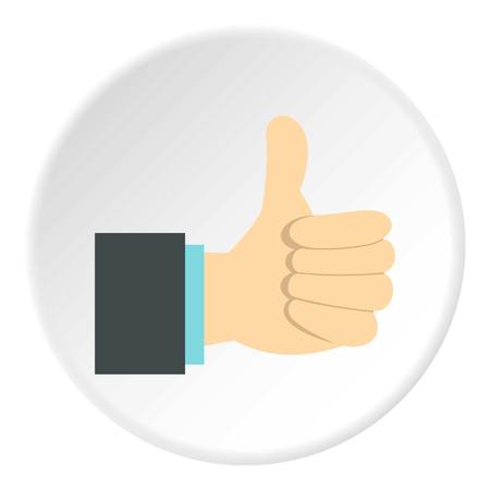approval icon: Gesture approval icon. Flat illustration of gesture approval vector icon for web