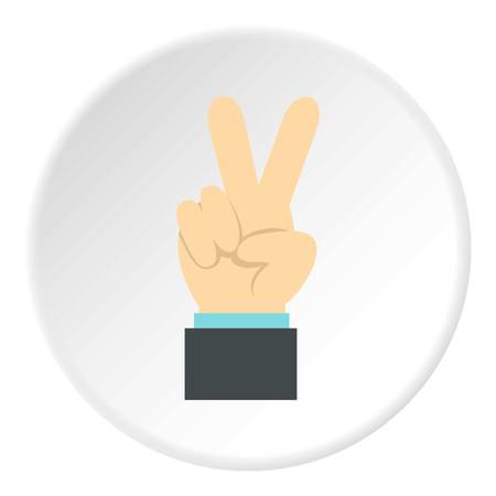 control of body movement: Gesture victoria icon. Flat illustration of gesture victoria vector icon for web